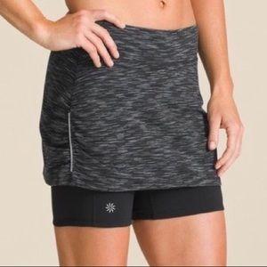 Athleta Black Space Dye Contender Running Skirt XS